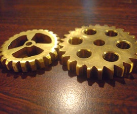 Hand Filed Decorative Brass Gears for Steampunkers And????