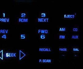 Blue LED Car Radio Mod