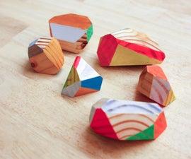 Wooden Geodes