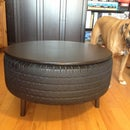 Recycled Tire Coffee Table