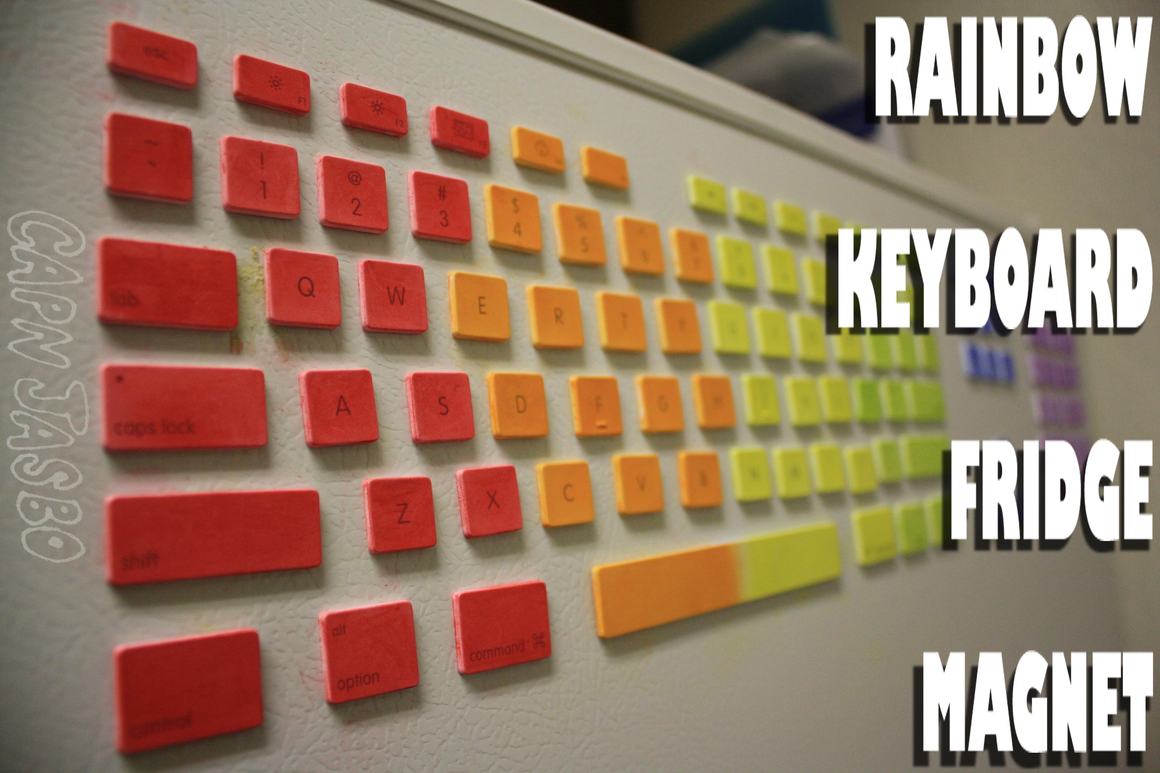 Picture of RAINBOW KEYBOARD FRIDGE MAGNET