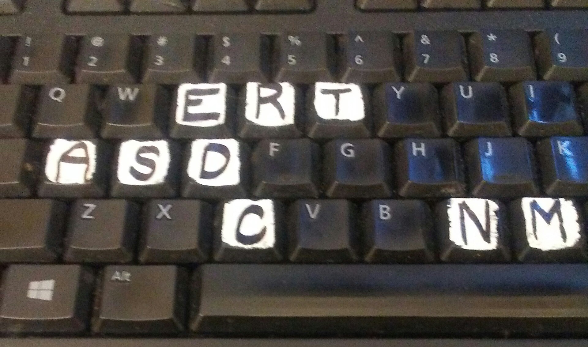Picture of Replace Letters (or Make Bigger Letters) on Computer Keyboard