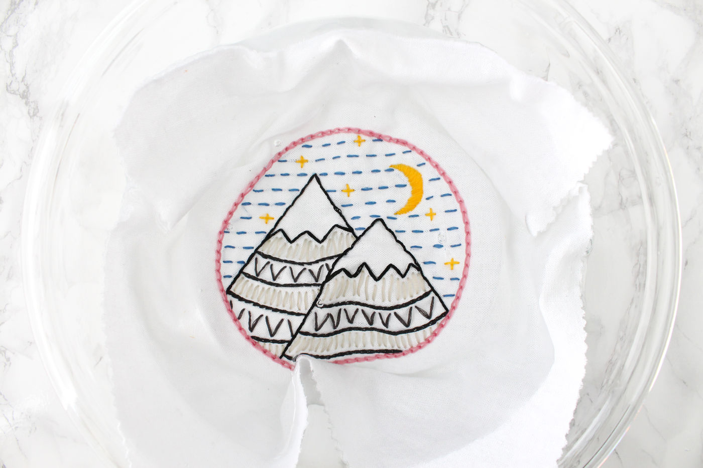 Washing Embroidery
