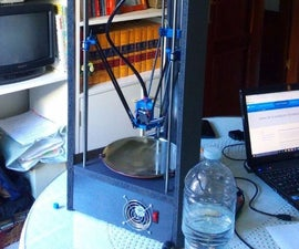 Very cheap Delta 3D Printer (about 150€)
