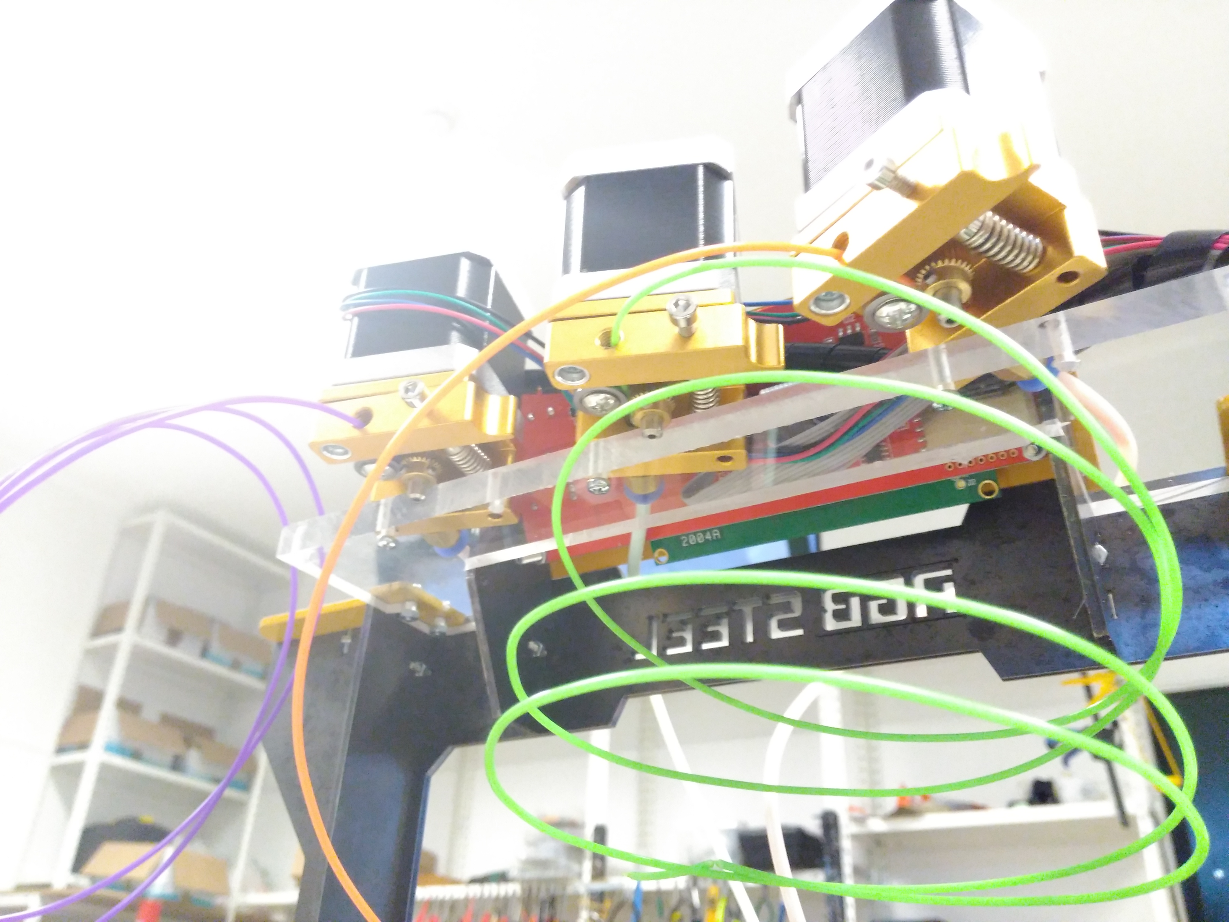 Picture of Mounting the Triple Bowden Mk8 Extruders