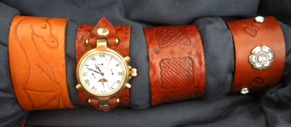 Picture of Leather Cuff Watch Band + Leather Bracelets 101 - Be Fashionable No Matter What Time You Arrive!!