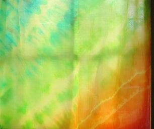 Rainbow Tie-Dye Silk Wrap