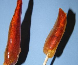 Spicy Orange Lollipops