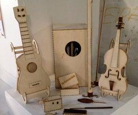 Lasercut Plywood Violin