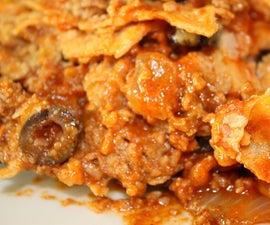 One Pot Stacked Enchilada Pie