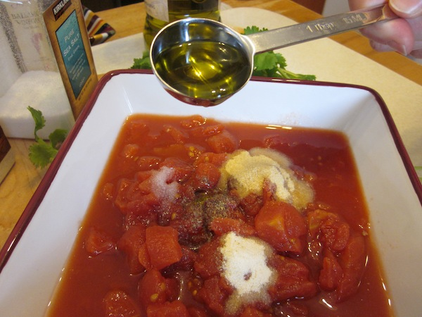 Picture of Add the Extra Virgin Olive Oil