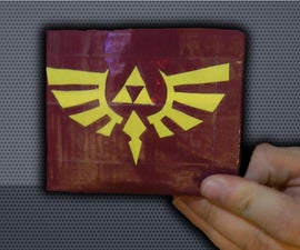 How to make a duct tape wallet with hidden pockets and a Zelda Logo