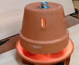 Clay Pot Heater Using Tea Lights