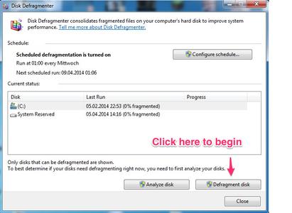 Disc Defragment (Windows)