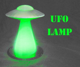 Glow in the Dark UFO Lamp