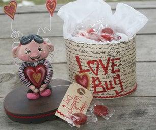 Valentine Paper Clay LOVE BUG Treat Box!!
