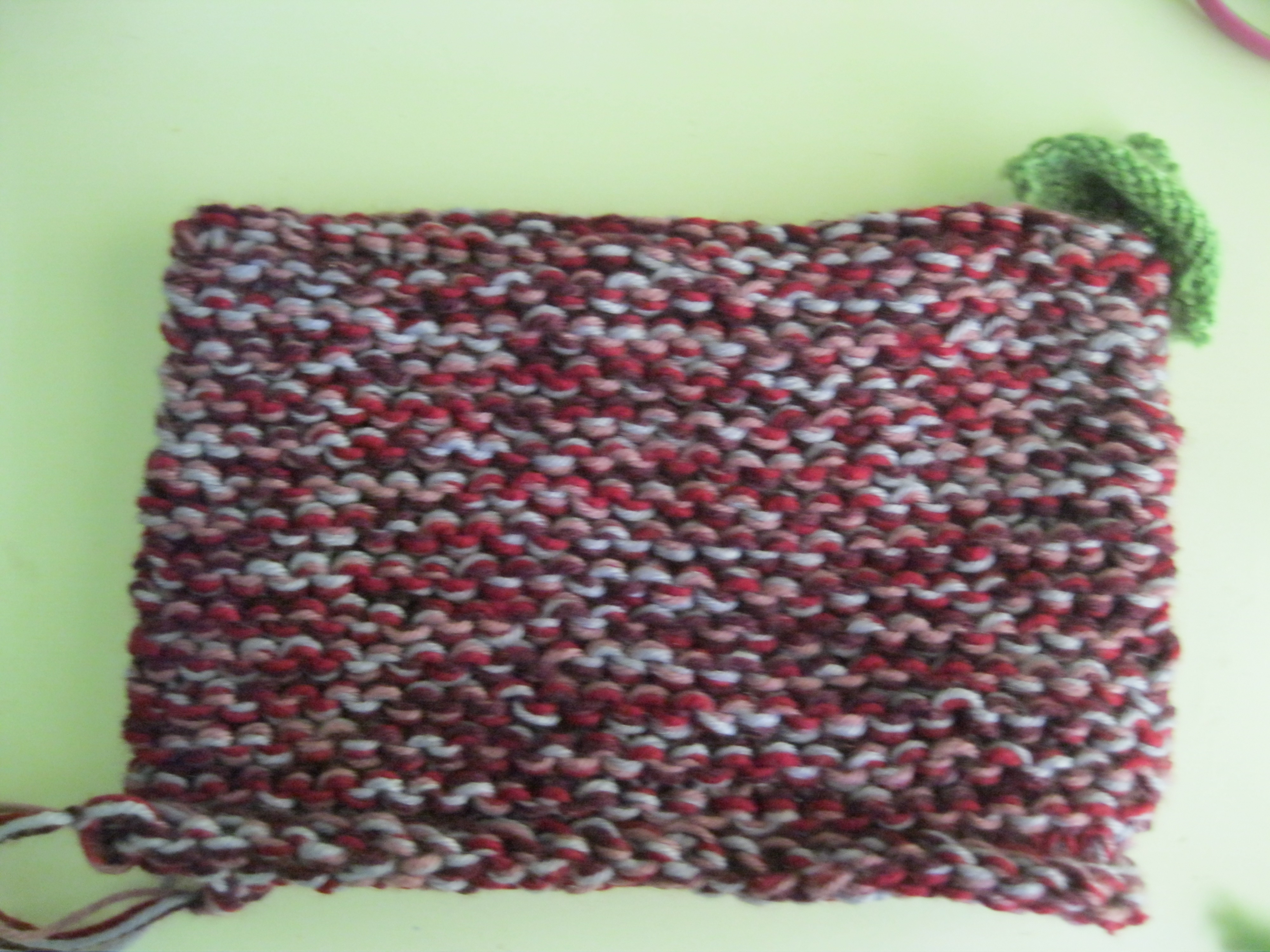 Picture of Green Section of Beanie (cont.)