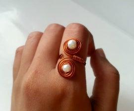DIY Beaded Swirly Rings
