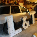Building Large Lighted Marquee Letters