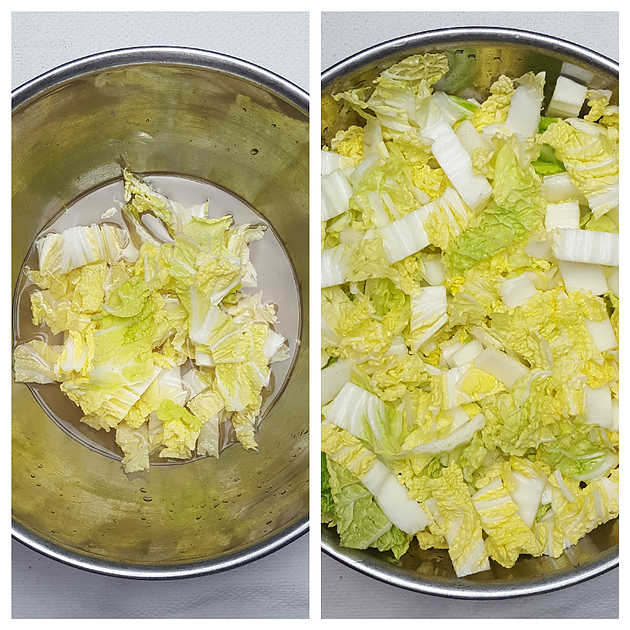 Picture of Soak Cabbage in Salt Water