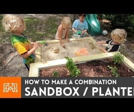 How to make a combination sandbox/planter