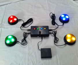 """Quiz Game Controller using """"Lights and Sounds Buzzers"""" and Arduino"""