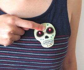 ETextile felt skull brooch