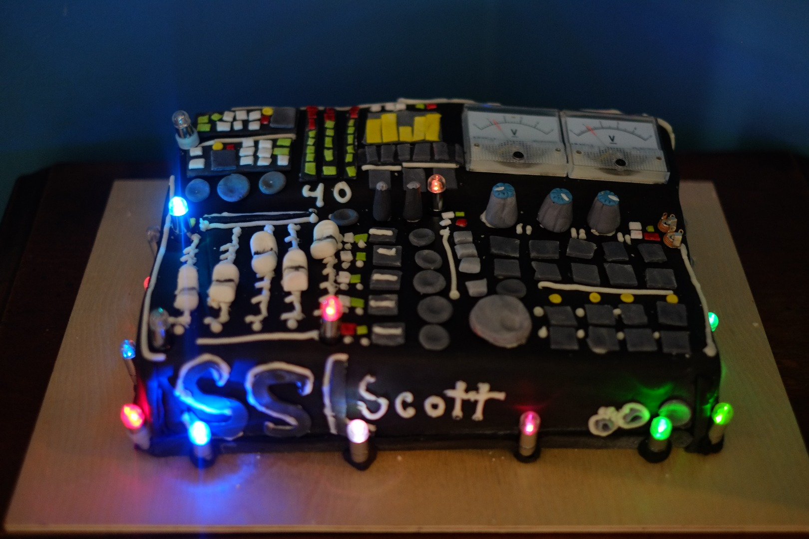 Picture of Soundboard Cake With Working Volt Meters