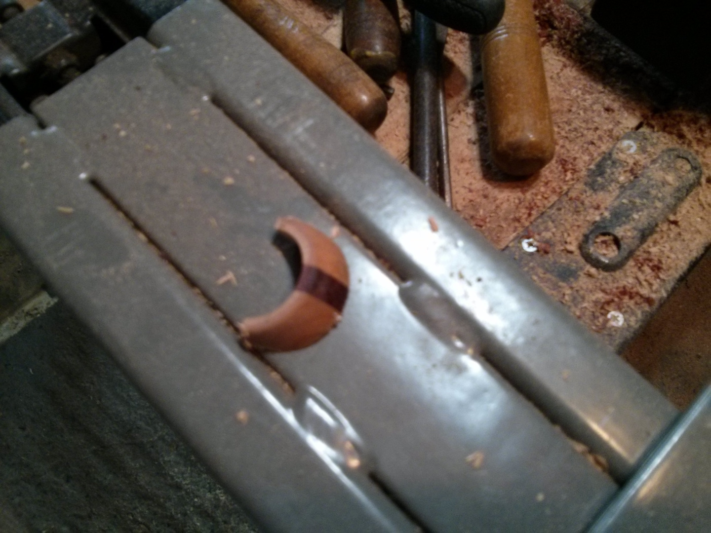 Picture of Drilling the Fore Handle