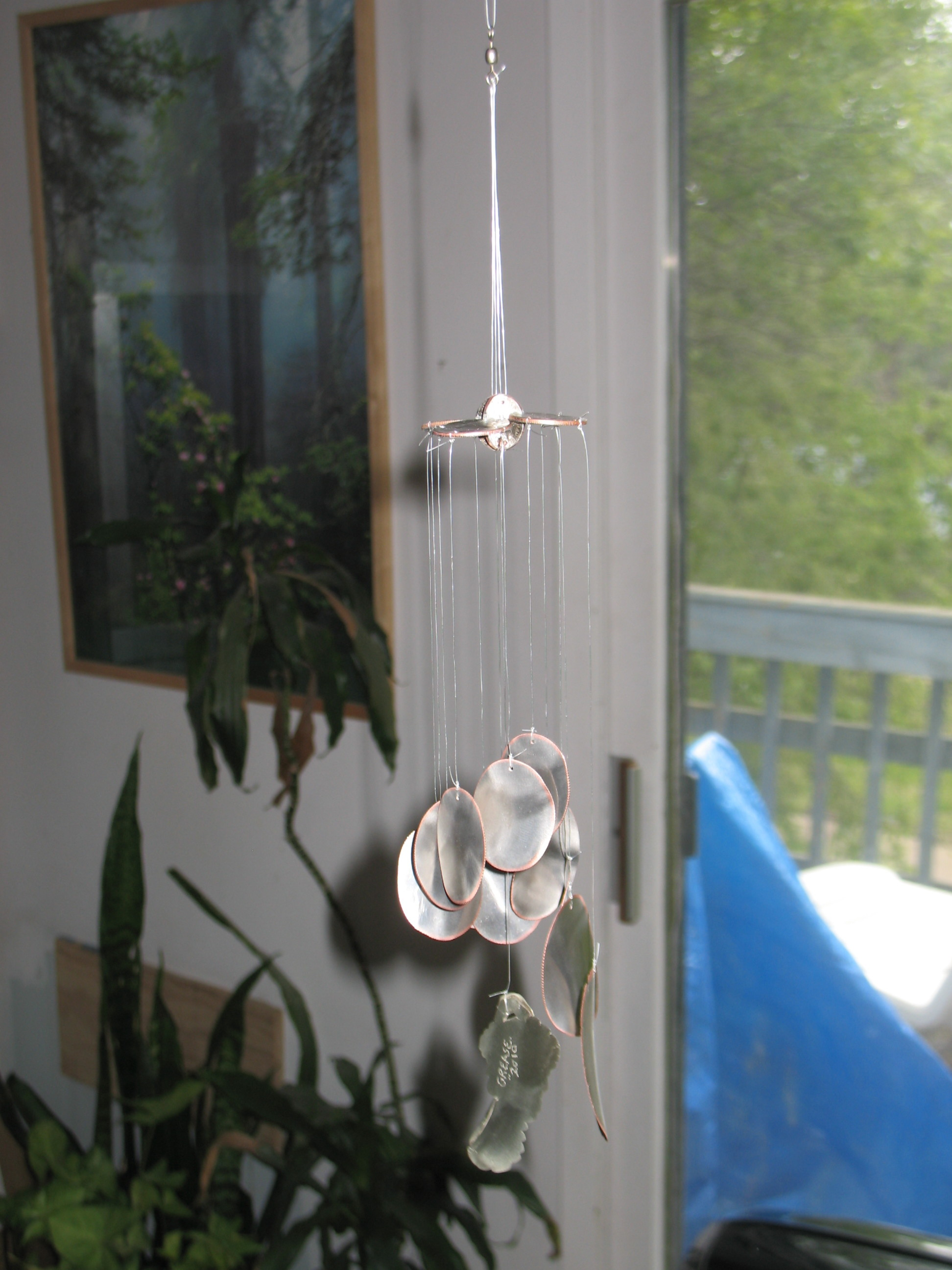 Picture of Tying Up the Fish Line and Finished Chime