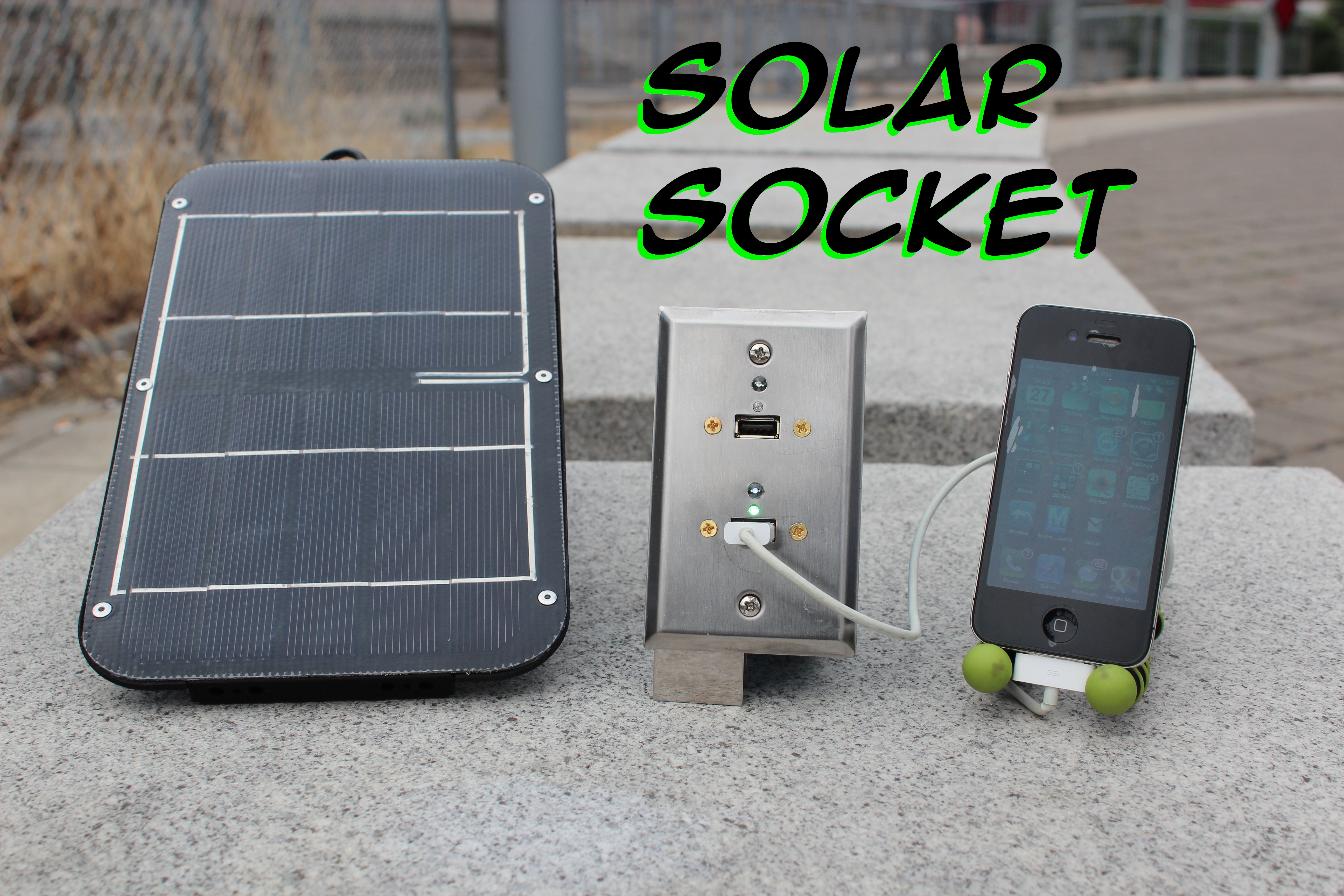 Picture of Emergency USB Solar Wall Socket: Solar Socket
