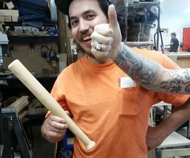 How to Turn a Mini-Baseball Bat/Mallet