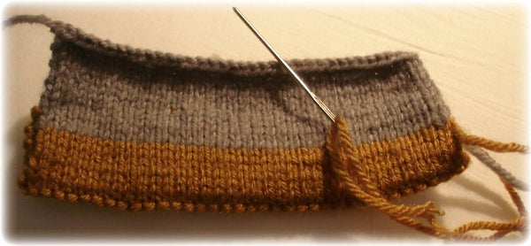 Another Choice for Knitted Hems - the Straight Edged Hem