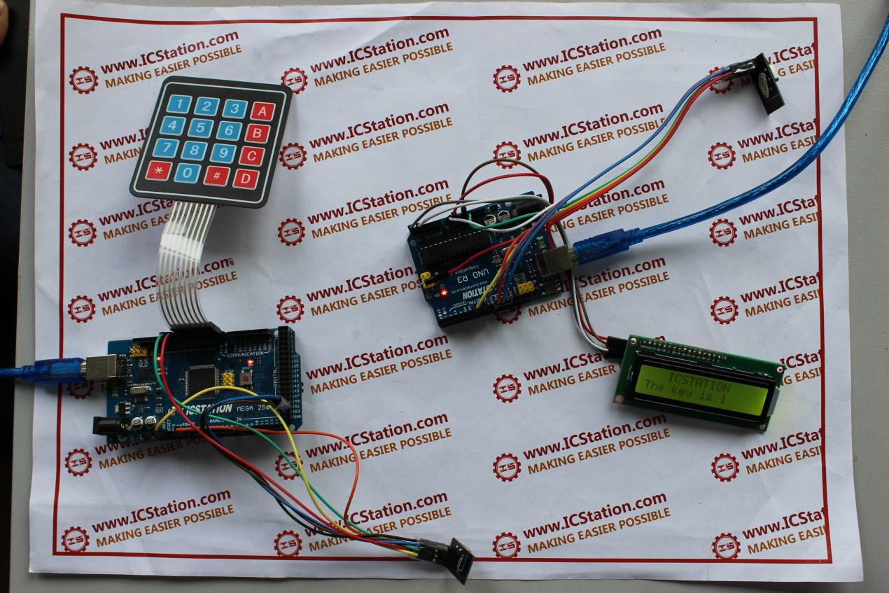 Picture of NRF24L01 Wireless Keyboard Data Transmission System Based on Arduino