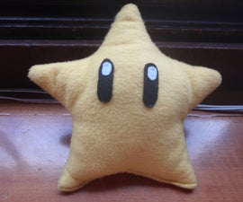 How to make a Mario power star plush