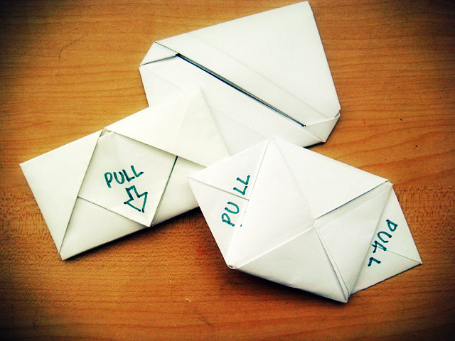 Picture of 3 Different Styles of Letter Folding