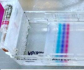 DIY Simple & Cheap Electrophoresis Setup for DNA Separation