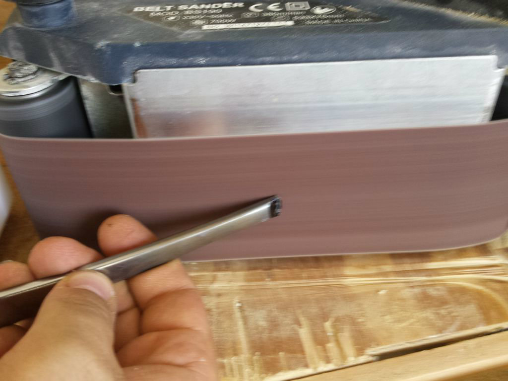 Picture of Forming the Blade and Smoothing the Butt