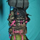 Don't throw away that old external frame pack just yet.