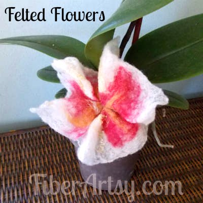 Picture of How to Felt Pretty Flowers
