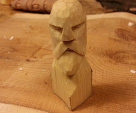 Carved Viking Chess piece