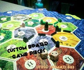 Customized Board Game Pieces Using Nomad 883 CNC Milling Machine