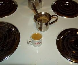 Making Cuban Coffee