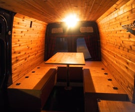 Bed, Table, and Benches for camper van - All in one!