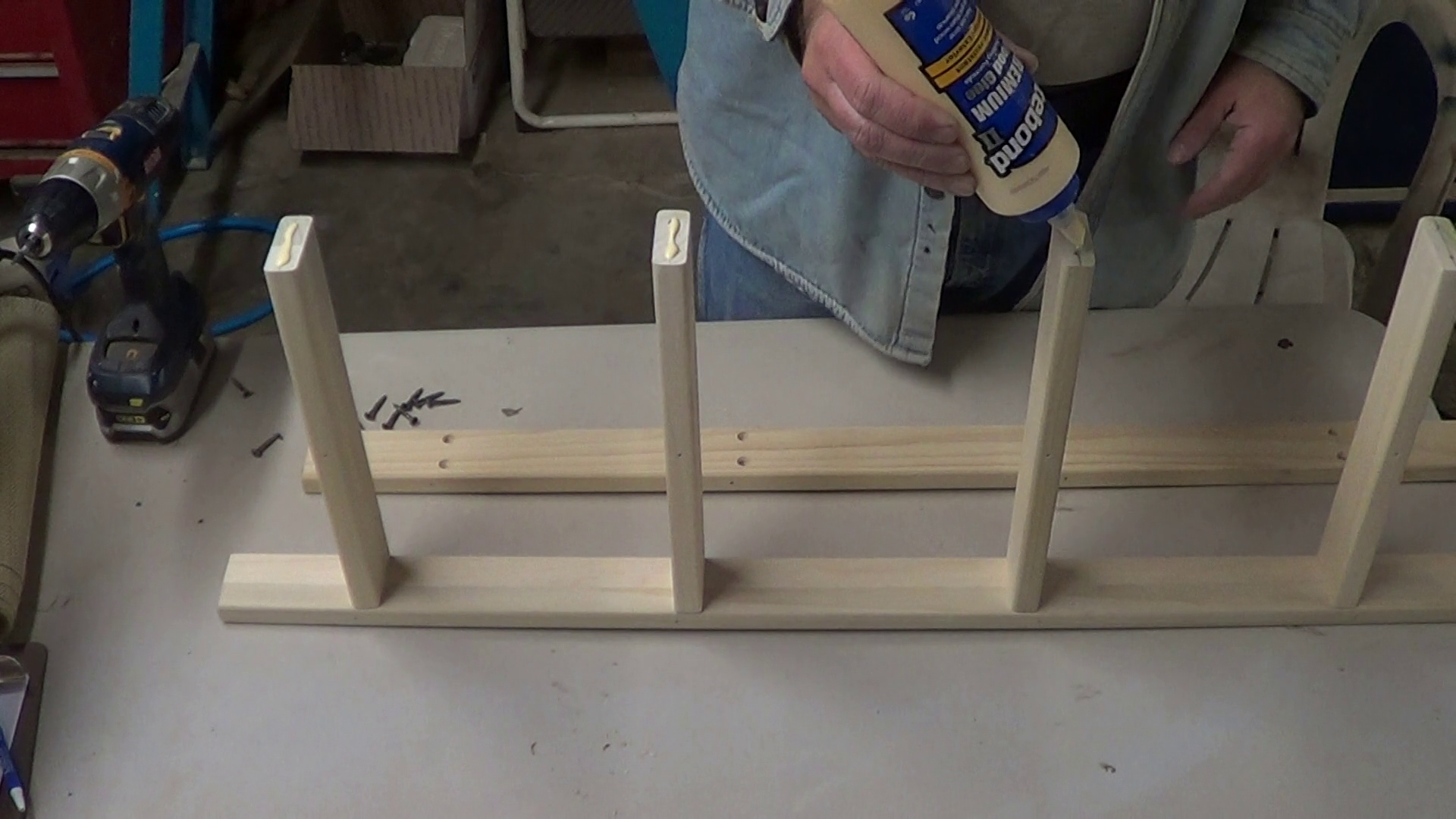 Picture of Gluing Rails