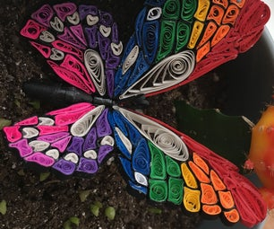 Rainbow Quilled Butterfly