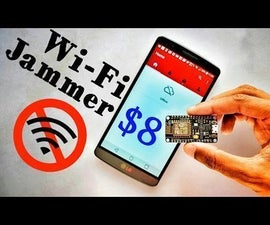 Make Wifi jammer with ESP8266 and Mobile App