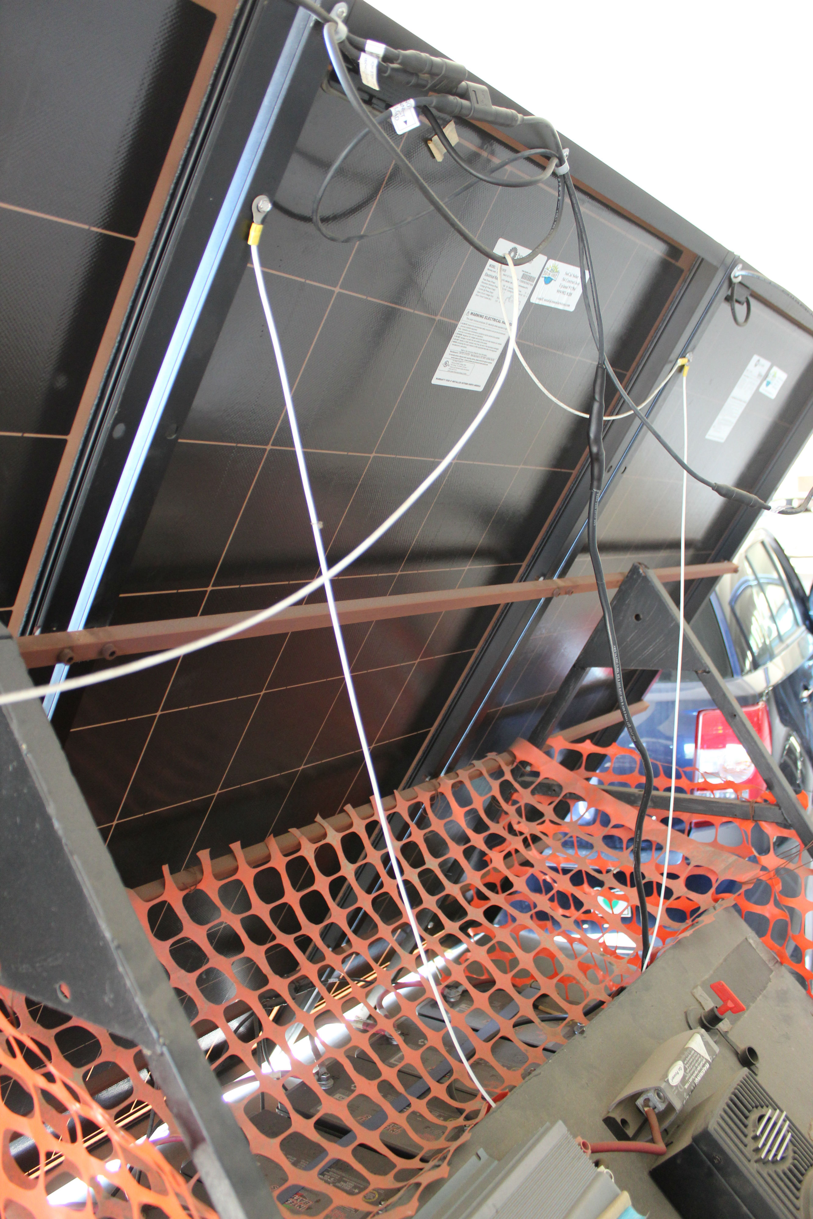 Picture of Mounting the Solar Panels