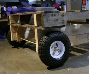 Wooden Pallet Up Cycle Cam Trolly Repurposed DIY Mobile Pallet Wagon