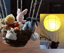 Cool Balloon Lamp From Cheap Lampshade - Great for Kids